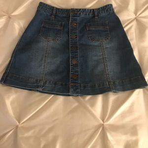 American Rag Button Down Denim Skirt